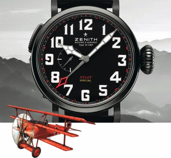 Zenith Pilot Montre D'Aeronef Type 20 GMT Red Baron