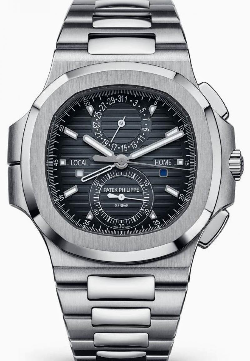 PATEK PHILIPPE NAUTILUS TRAVEL TIME CHRONOGRAPH WATCH