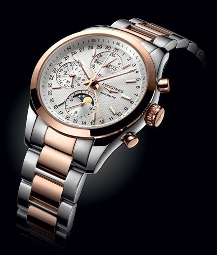 Longines - Conquest Classic Moonphase two-tone
