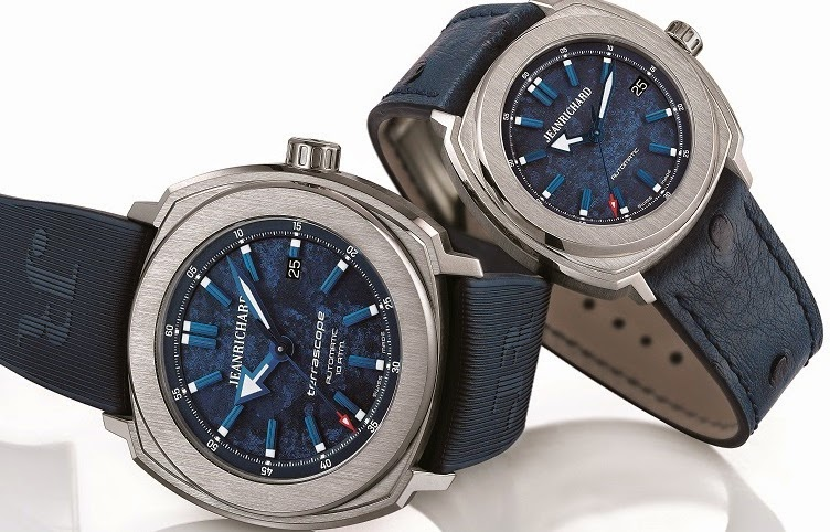 JEANRICHARD - Terrascope with a blue marine dial