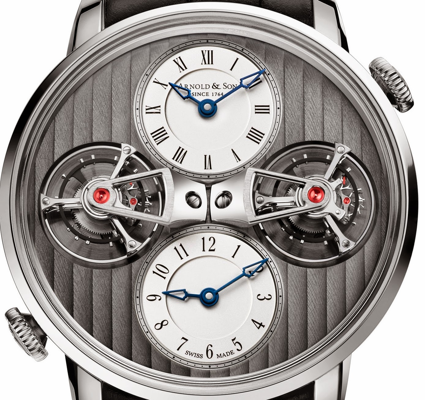 Arnold & Son - DTE Double Tourbillon Escapement Dual Time for 2015
