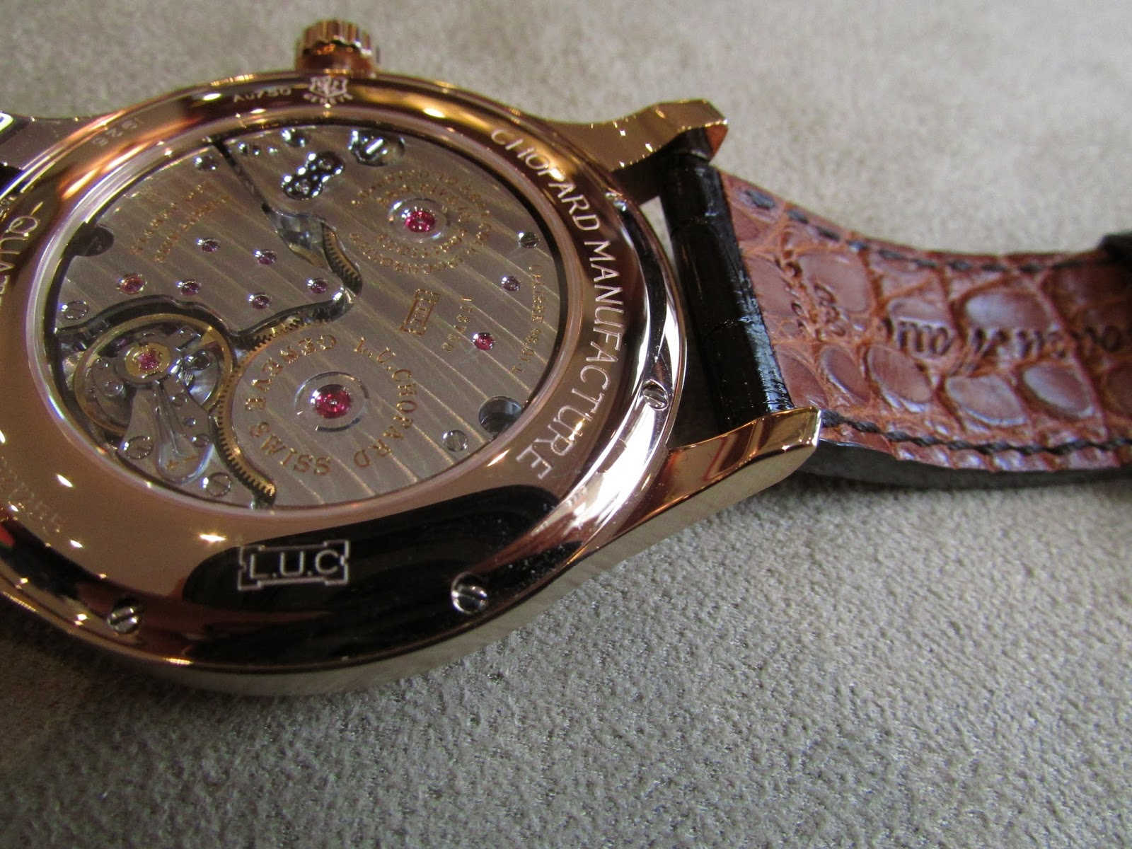 Chopard L.U.C Quattro Rose gold (movement)